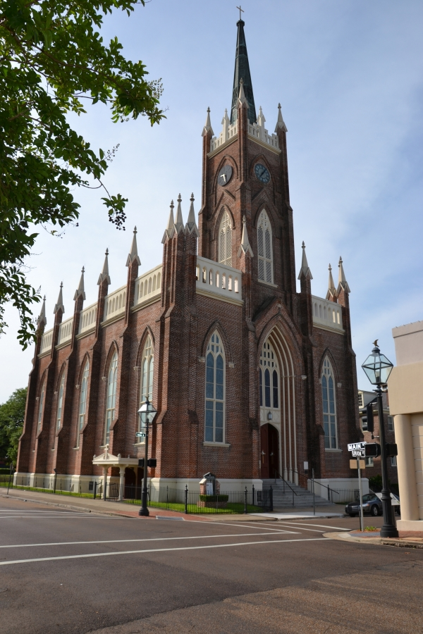 cathédrale,natchez,sud,usa,stanton hall,cathédrale,mississipi