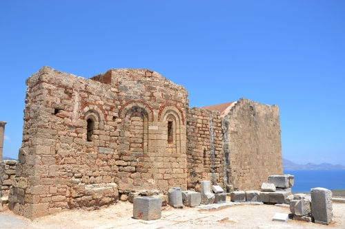 Citadelle,chapelle,Lindos,Rhodes